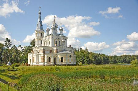Alexanders orthodox temple Neva in Stamierine(Latvia)  Stock Photo