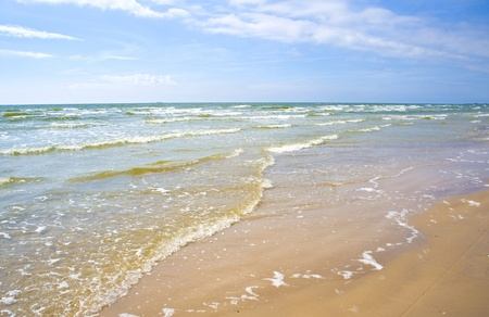 jurmala: Sea waves at coast of gulf of Riga in Jurmala
