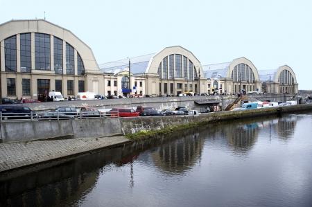 Latvia, Riga  A kind on pavilions of the central market  Banco de Imagens