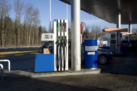 electric station: Filling station  Filling of cars by fuel