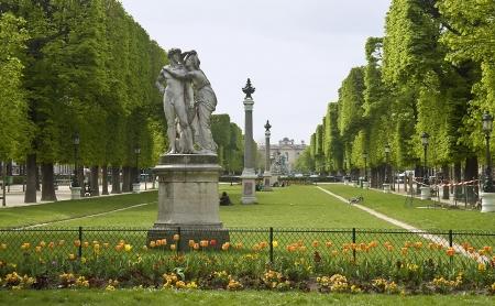 Europe, France, Paris, Luxembourg garden  Banco de Imagens