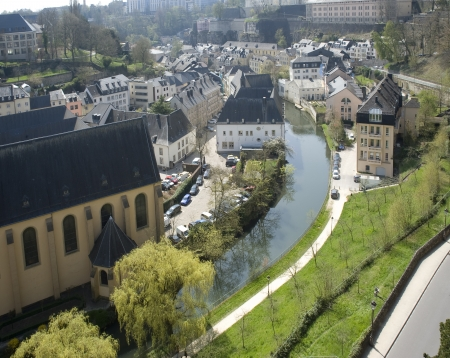 benelux: Benelux countries, Luxembourg  Lower city  Look with top on the river and houses