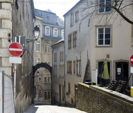 benelux: Benelux countries, Luxembourg  Small street of the old city   Editorial