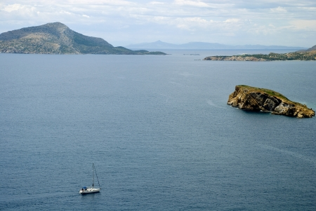 Europe, Greece. Islands of the archipelago of Cyclades in the Aegean Sea.