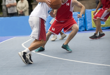 Street basketball  Competition of amateur commands