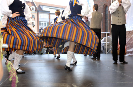 latvia girls: The Latvian national dances on a holiday in Riga