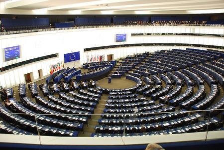 Europa, Frankrijk, sessie in een EuroParliament-gebouw in Straatsburg