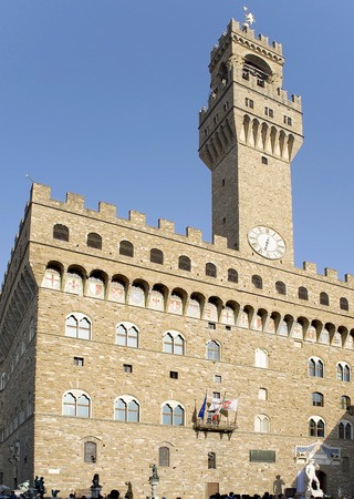 translated: Florence.  Palazzo Vecchio, which translated from Italian means Old Palace is one of the most famous buildings in Florence. Today it houses the Town Hall.