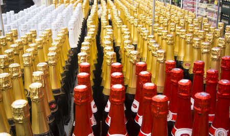 quantities: Shop. Sale of champagne and sparkling wines  in a large number before holidays.