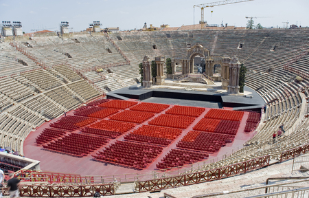 Veronese amphitheater (Arena di Verona). It is the antique amphitheater, the third by the size constructed during an era of Ancient Rome, and one of the most well remained.