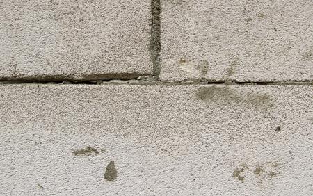 foundation cracks: Wall, masonry of several aerated concrete blocks.