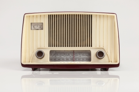 vintage radio: old radio Stock Photo
