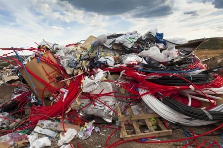 Alexandroupolis, Griekenland - 11 september vuilnisbelt op een locatie buiten de stad homateri, op 11 september 2011, Alexandroupolis, Griekenland