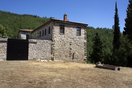 Stone house in Greek countryside  photo