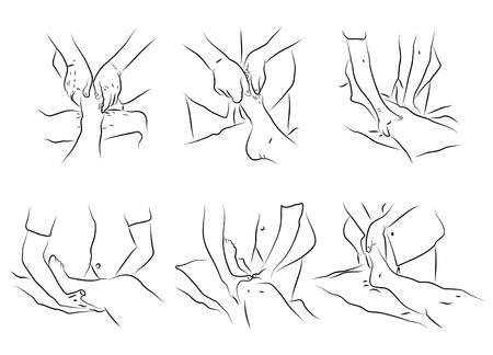 Massage technieken als illustratie Stock Illustratie