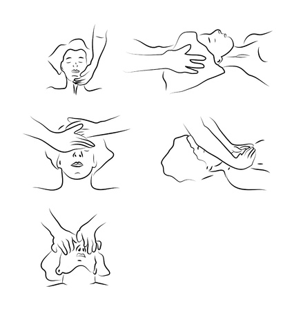 Massage techniques as illustration Stock Vector - 16761116