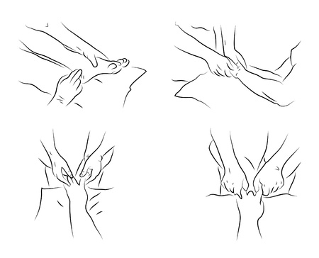 massage symbol: Massage techniques as illustration