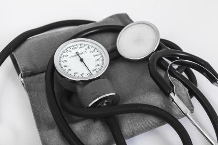 analog sphygmomanometer with white background Stock Photo - 19568450