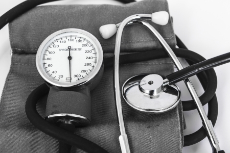 analog sphygmomanometer with white background Stock Photo - 19568453