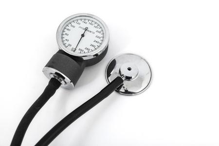 analog sphygmomanometer with white background Stock Photo - 19568352