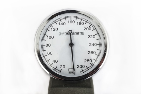 analog sphygmomanometer with white background Stock Photo - 19568344