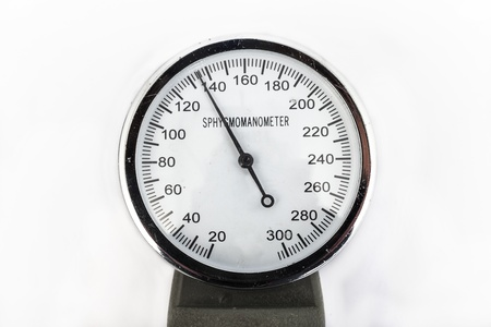 analog sphygmomanometer with white background Stock Photo - 19568406