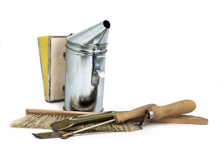 materiaal voor de bijenteelt, een set off nieuwe instrumenten