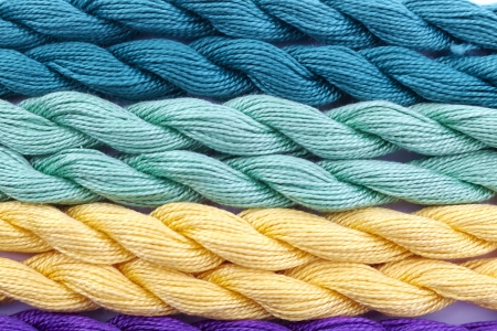colorful wool thread Stock Photo