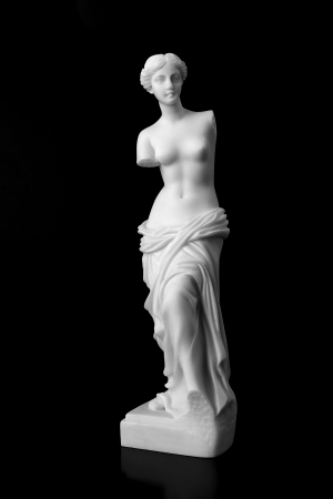 aphrodite: The Venus de Milo is a marble statue of the Hellenistic era, dates from around 100 BC Stock Photo