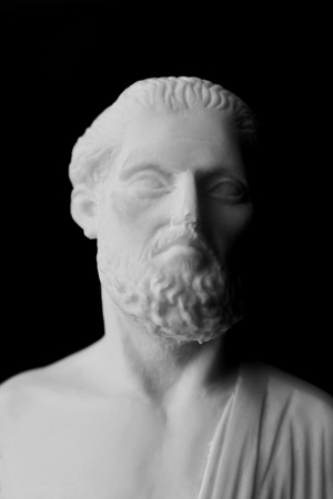 hippocrates: Hippocrates was an ancient Greek physician and is considered one of the most prominent figures in the history of medicine. (460-377 BC) Stock Photo