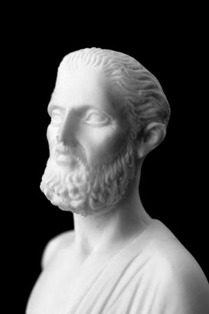 Hippocrates was een oude Griekse arts en wordt beschouwd als een van de meest prominente figuren in de geschiedenis van de geneeskunde. (460-377 BC) Stockfoto