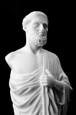 hippocratic: Hippocrates was an ancient Greek physician and is considered one of the most prominent figures in the history of medicine. (460-377 BC) Stock Photo