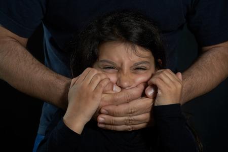abused: Children violence  Man