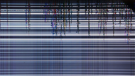 tv screen with static noise. bad signal reception Imagens