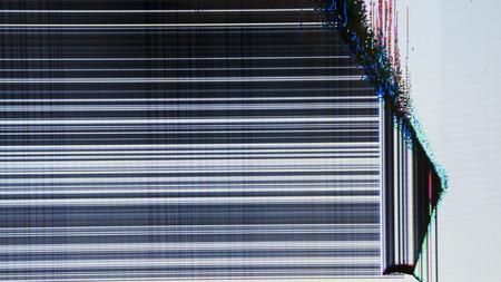 tv screen with static noise. bad signal reception 版權商用圖片