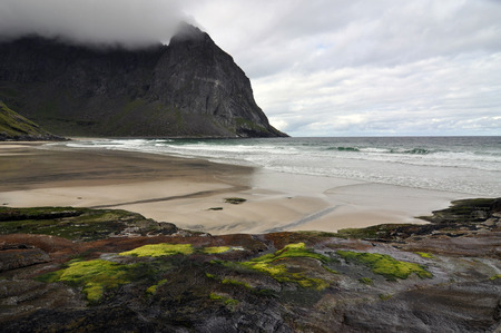 metres: Norwegian nature There are mountains plunging into the sea from hundreds of metres, fjords, tall mountain peaks, northern lights and midnight sun.