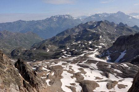 extensive: Alps, region of France, Italy, Switzerland The Alps are the highest and most extensive mountain range system that lies entirely in Europe Stock Photo