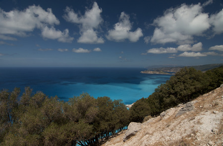 Kefalonia, Greece. Kefalonia or Cephalonia is the largest of the Ionian Islands in western Greece.