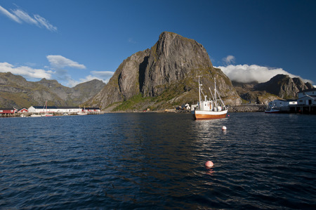 Moskenes, Norway. Moskenes is a small town in the municipality of Moskenes in Nordland county, Norway. Banque d'images
