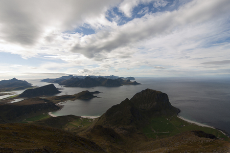 Lofoten islands, Norway. Lofoten is an archipelago and a traditional district in the county of Nordland, Norway.