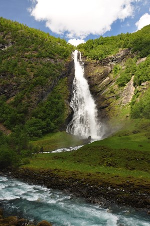 premier: Avdalsfossen, Norway, Jotunheimen National Park. Jotunheimen National Park is a national park in Norway, recognized as one of the countrys premier hiking and fishing regions.
