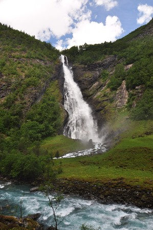 Avdalsfossen, Norway, Jotunheimen National Park. Jotunheimen National Park is a national park in Norway, recognized as one of the country's premier hiking and fishing regions.