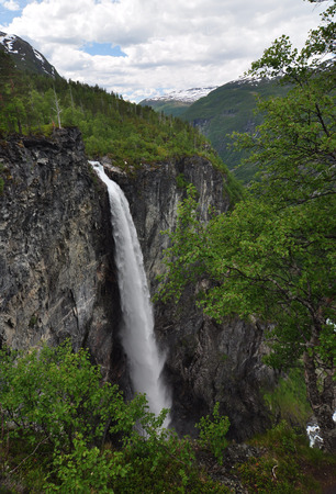 Vettisfossen, Norway, Jotunheimen National Park. Jotunheimen National Park is a national park in Norway, recognized as one of the country's premier hiking and fishing regions. Banque d'images