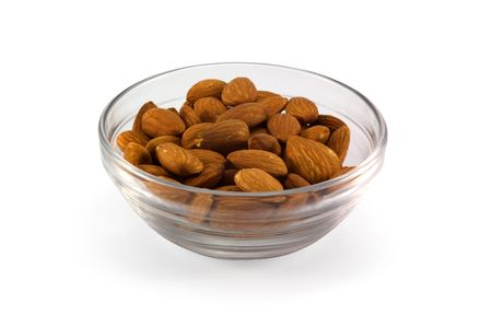 cup with almonds