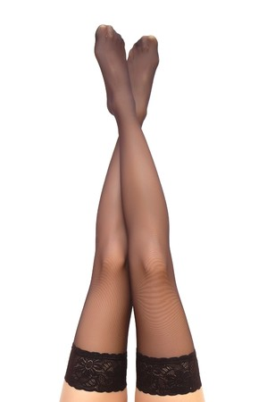 Beautiful woman legs in stockings Stock Photo - 4016741