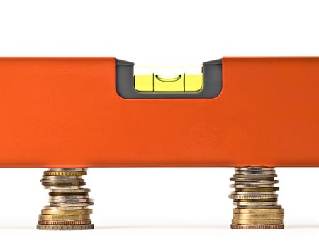 conceptual image which may represent money balance, exchange rate, fair trade or 版權商用圖片 - 4621097