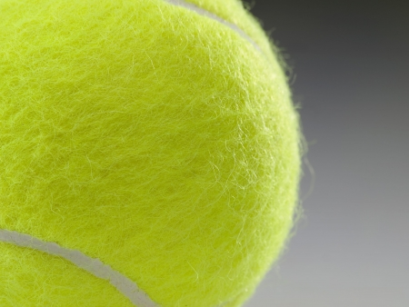 Tennis ball closeup, shallow DOF Stock Photo