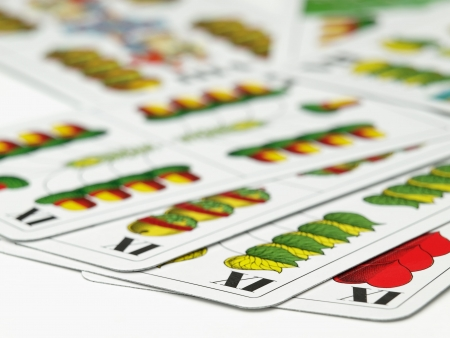 skat: Hungarian playing cards for card games such as Preferans,Belot which are played in some parts of Europe