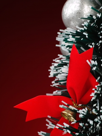 Christmas decoration over red background, for various christmas related themes and backgrounds 版權商用圖片