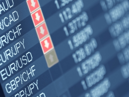 currency trading ,closeup and shallow DOF,for  forex, stock market and other finance themes